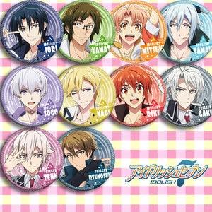 IDOLiSH7 anime badges 58 mm Idolish7 Cosplay Badges IORI Brooch Pins NIKAIDO YAMATO Icon(China)