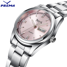 PREMA Clock Women Watches Relogio Feminino Stainless Steel Lady Wrist Watch Fashion Casual Montre Femme Quartz Sport Women Watch
