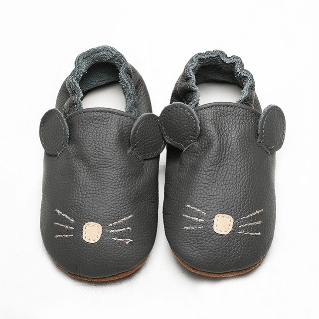 2018 Genuine leather breathable soft sole high quality new born baby infant shoes