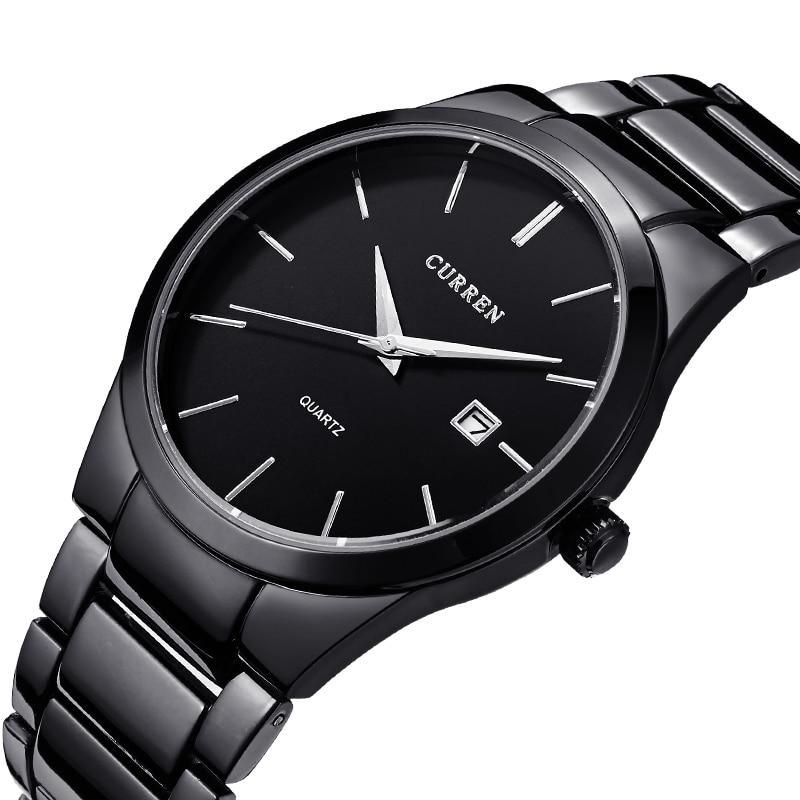 Curren 2016 Top Brand Business Men Male Luxury  Watch Casual Full steel Calendar  Wristwatches quartz watches relogio masculino