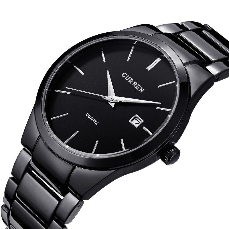 Curren 2016 Top Brand Business font b Men b font Male Luxury Watch Casual Full steel