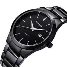 Curren 2016 Marca de Fábrica Superior de Negocios Hombres Hombres de Lujo Casual Watch Calendario Relojes de pulsera de acero Completo relojes de cuarzo relogio masculino