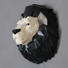 Nordic Creative resin horse head statue home wall decor crafts Apes art decoration animal lion room figurines
