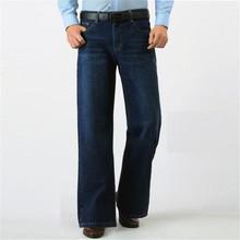 Jesień i zima grube moda Retro spodnie rozszerzane męskie luźne szerokie spodnie nogi duże nogi spodnie szerokie nogawki jeansy męskie spodnie fala tanie tanio LFSZY Zipper fly light Kieszenie Stałe Na co dzień Midweight Pełnej długości Denim DMNZK0327 Mężczyźni Stripe trousers