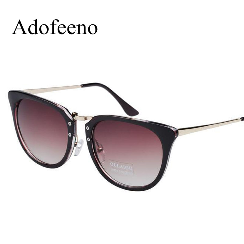 b0f9dfb9d0d Adofeeno Fashion Sunglasses Women Brand Designer for Women oculos de sol  feminino Steampunk Mental Frame Polarized Blue-in Sunglasses from Women s  Clothing ...