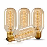 Vintage E27 T45 LED 40W Edison estilo lágrima espiral filamento bombilla Retro lámparas para cafetería iluminación casera