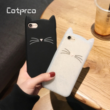 COTPRCO Cartoon Case for iPhone 7 Plus 6s 8 X 10 Ordinary Cat Ears 6 Soft TPU Back Cover