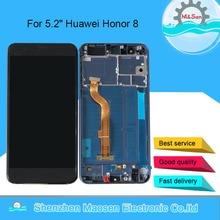 """המקורי M & סן עבור 5.2 """"Huawei Honor 8 FRD L02 FRD L14 FRD L19 FRD L09 LCD מסך תצוגה + מגע פנל digiziter מסגרת לכבוד 8"""
