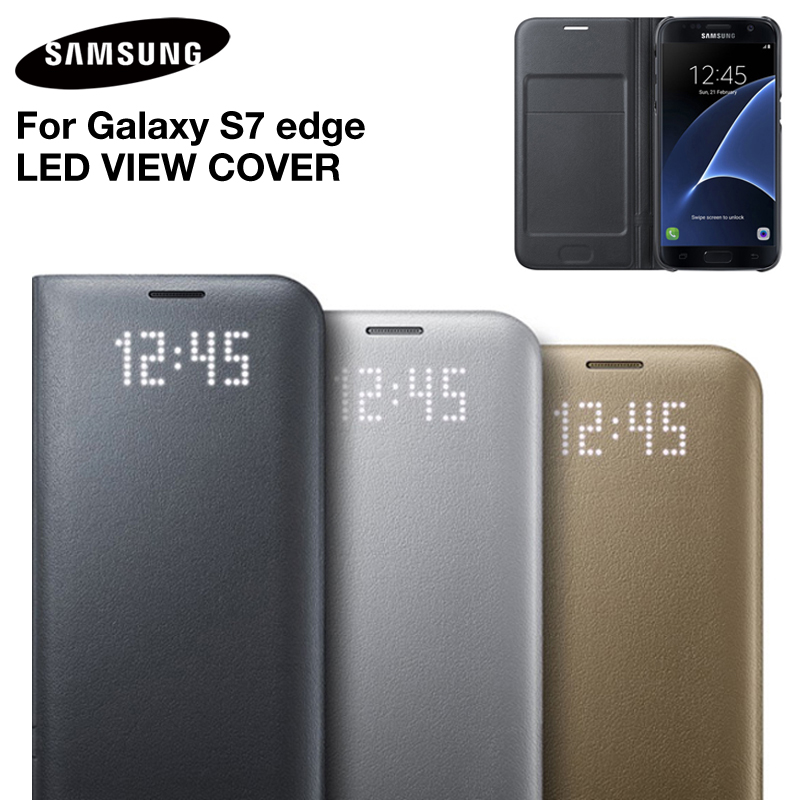 LED inteligente Protector LED vista cubierta para Samsung GALAXY S7 SM-G9300 S7 borde SM-G9350 G9350 G930A G935V G935T g935K