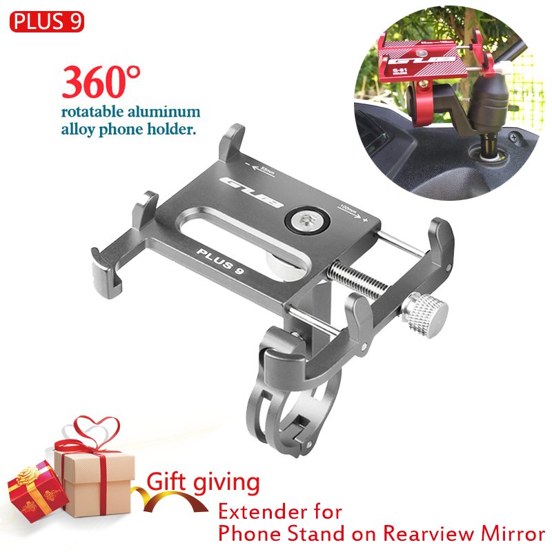 NEW 360 Rotating Mobile Phone Holders Stands Bike Bicycle Motorcycle Mobile Phone Holder Gub Plus 9 For 3.5