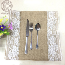 Morigins Linen Table Runner Home Textile 30x275cm Fashion Lace Cloth Natural Color Vintage Style Wedding Party N37