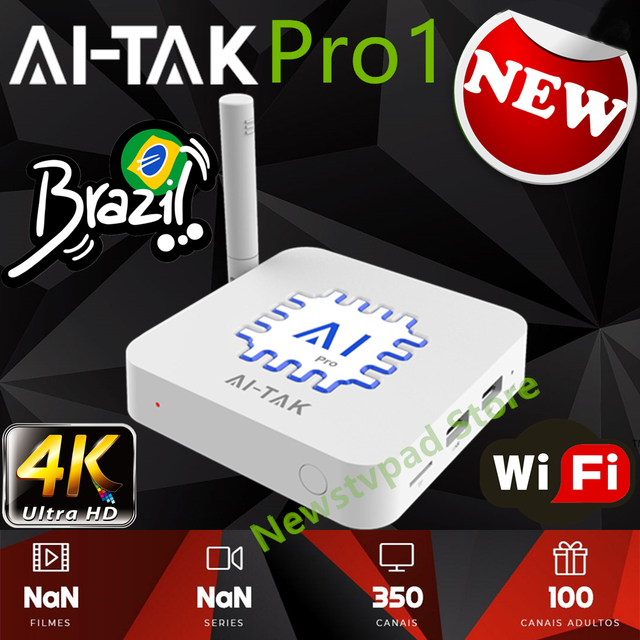 US $185 0 |2019 HTV BOX 5 BTV BOX Brazil IPTV Android box AI TAK Pro1 4K  Brazilian free channels subscription with VOD Playback and Live -in Set-top