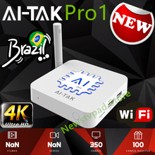 2019 ai tak tv box ai tak pro1 BTV B9 HTV BOX 5 HTV6 Brazilian Portuguese TV Internet Streaming box Live HD Filmes On Demand TV