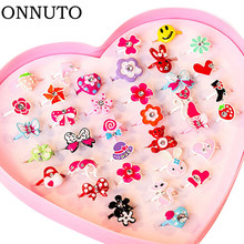 Gifts Jewelry-Accessories Finger-Rings Flower Sweet-Rings-Design Animal Girl Kids Fashion