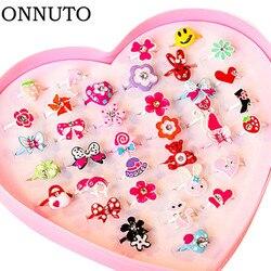 10 pçs/lote anéis doces bonitos de flores, acessórios de joias de moda para crianças, presente de criança, anéis de dedo chique