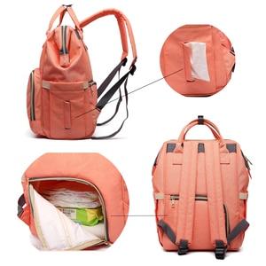 Image 5 - Livraison directe sacs à couches femmes grande capacité Nappy sacs bébé soins voyage sacs à dos concepteur sac dallaitement pour papa et maman SD 067