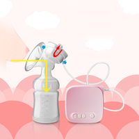Automatic Milk Pumps Kit Electric Breast Pump Natural Suction Enlarger Feeding Bottle USB Breast Milksucker FJ88