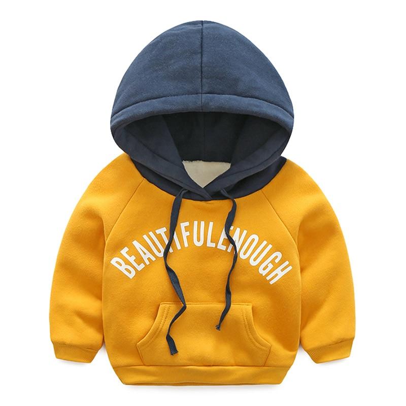 Baby Letter Sweater 2017 Winter New Boys Girls Children Children Thickening Coat Winter Sweatshirts For Children Hoodies Kids