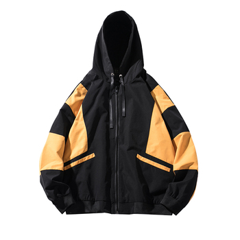 2018 Autumn Recommend New listing The Fashion School Even Hat Jacket Youthfulness Korean version White red yellow size L-3XL