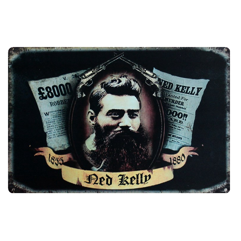 Ned Kelly Metal Movie Painting Tin Tanda Gambar Dinding untuk Hotel - Hiasan rumah - Foto 2