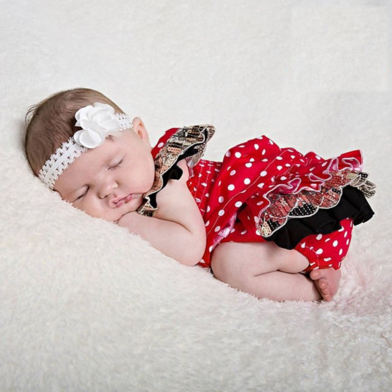 Baby Girls Summer Cute Newborn Infant Bebes Red Polka Dot Mini Dress + PP Short Bloomers Bottoms 2pcs Outfit Clothing Set 2017 summer newborn infant baby girls clothing set crown pattern romper bodysuit printed pants outfit 2pcs