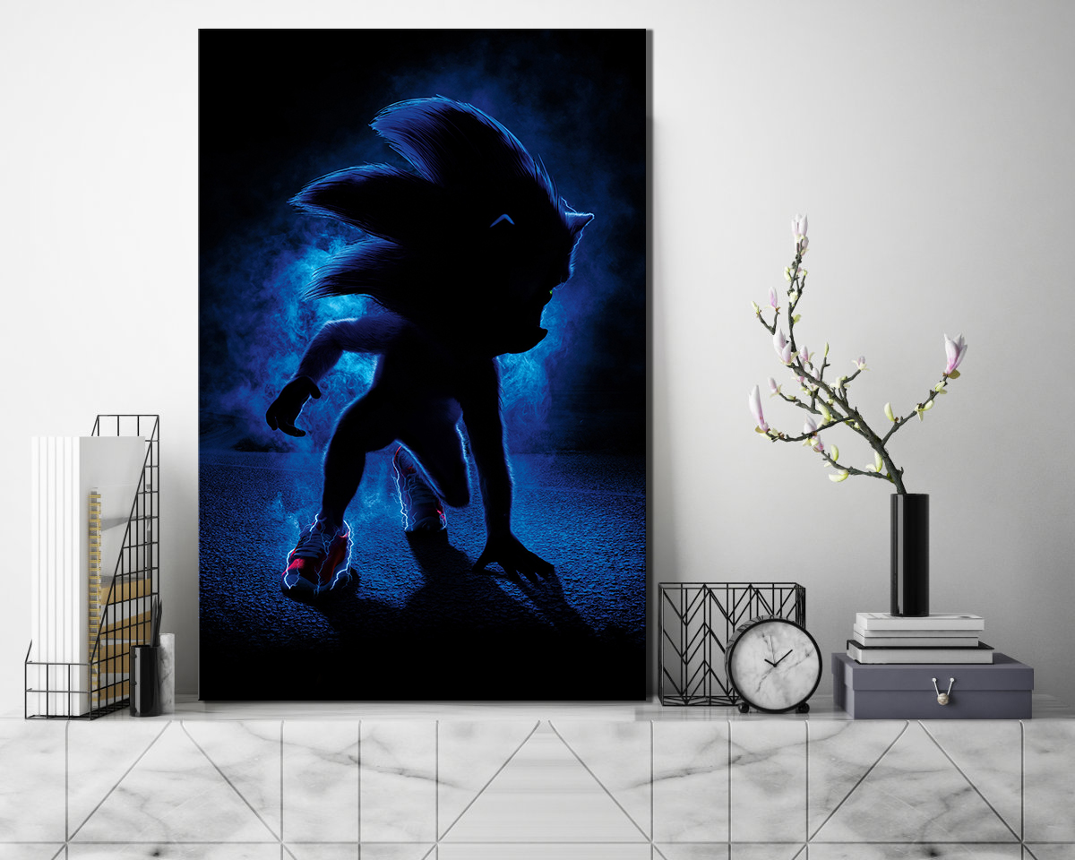 1 Piece Sonic The Hedgehog Cartoon Movie Poster Pictures Hd Canvas Painting Wall Art For Home Decor Painting Calligraphy Aliexpress
