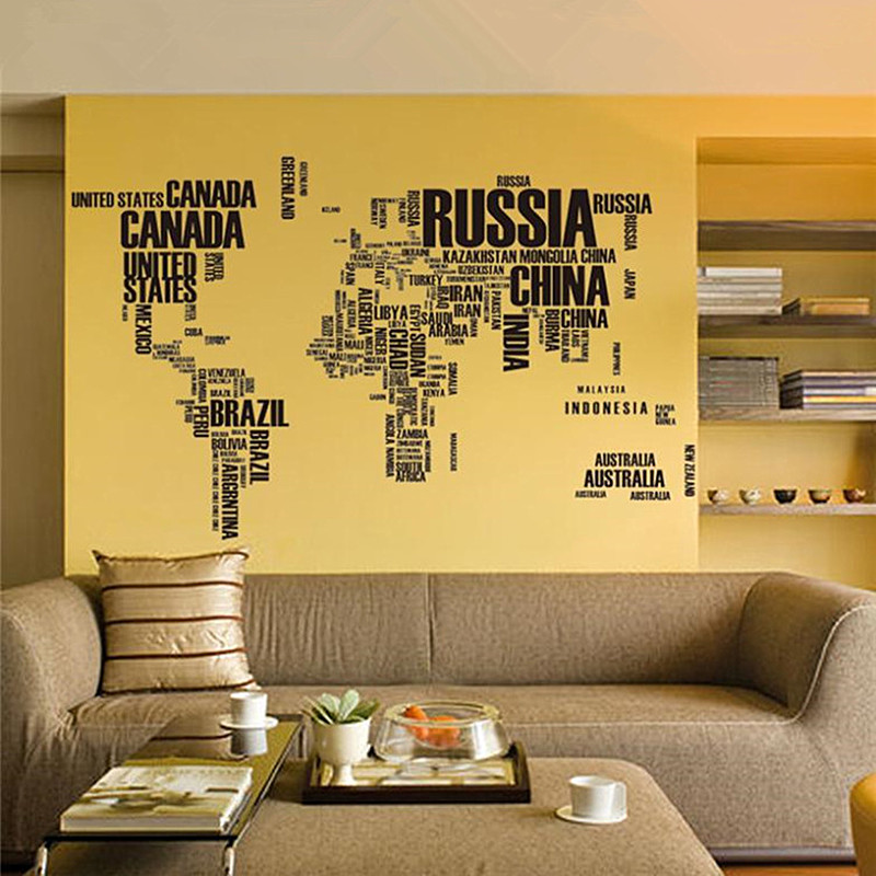 Wallpaper creative letter world map wall sticker aesthetic english wallpaper creative letter world map wall sticker aesthetic english wall sticker world of map living room home decorations in wall stickers from home gumiabroncs Image collections