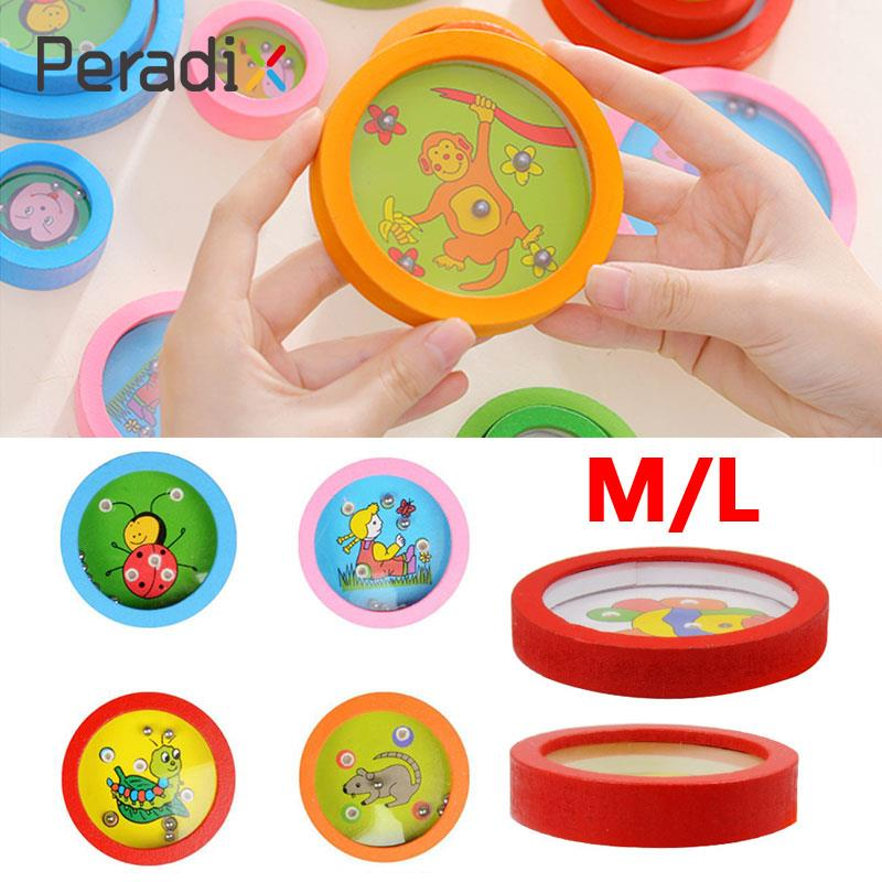 Wooden Ball In Maze Toys Labyrinth Puzzle Handle Intellectual Gifts Fun Funny