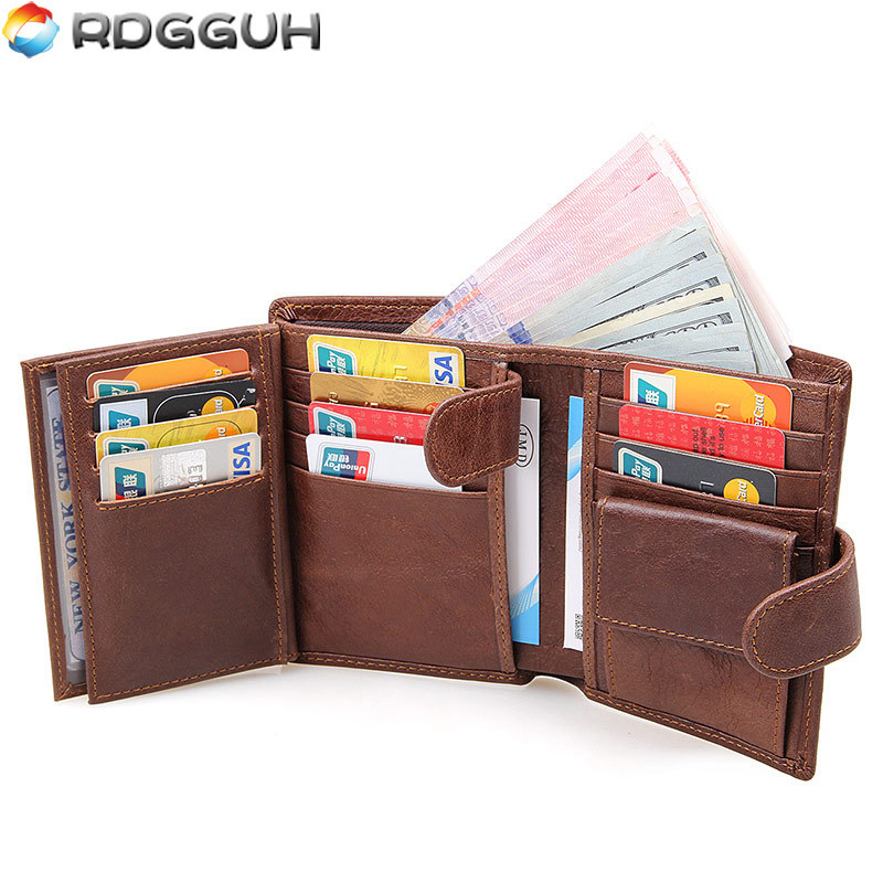 RDGGUH 2017 Luxury Brand Men Wallets Male Clutch Coin Purse Men's Genuine Leather Wallet Passport Cover Men Business Card Holder p kuone business men purse famous luxury brand coin credit card holder male travel long wallet passport cover leather money bag