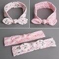2Styles Cute Pink Infant Newborn Baby Rabbit Ears Turban Bowknot Headbands Kids Children DIY Garments Hair Accessories