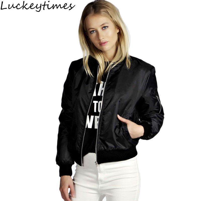 Winter parkas cool basic bomber jacket Women Army Green down jacket coat Padded zipper chaquetas biker outwear