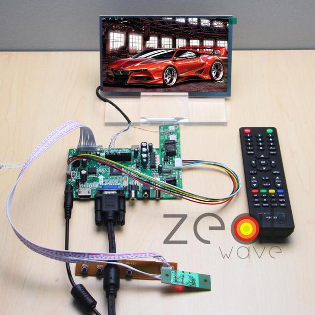 """(HDMI + VGA + CVBS + ÁUDIO + USB) Controlador Board + 7 """"TFT de 7 Polegadas 1024*600 IPS LMS700JF04 Original Display LCD"""