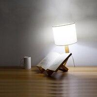 decorative table lamps desk lamp led flexible E27 AC90 260V desk light wood 2 Feet plugs