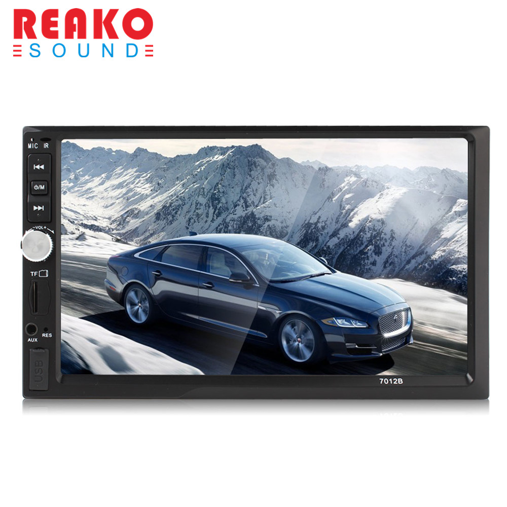 REAKOSOUND New For sale 7 Inch Bluetooth TFT Screen Car Audio Stereo MP5 Player 12V Auto 2-Din Support AUX FM USB SD MMC 2 din car radio mp5 player universal 7 inch hd bt usb tf fm aux input multimedia radio entertainment with rear view camera