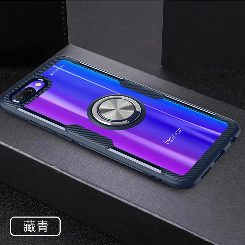 HTB1dzofX0jvK1RjSspiq6AEqXXa0 Finger Ring Kickstand Case for Huawei Honor 10 7X Play TPU Bumper Car Magnetic Acrylic Case PC Hard Cover for Honor 7X 10 Coque