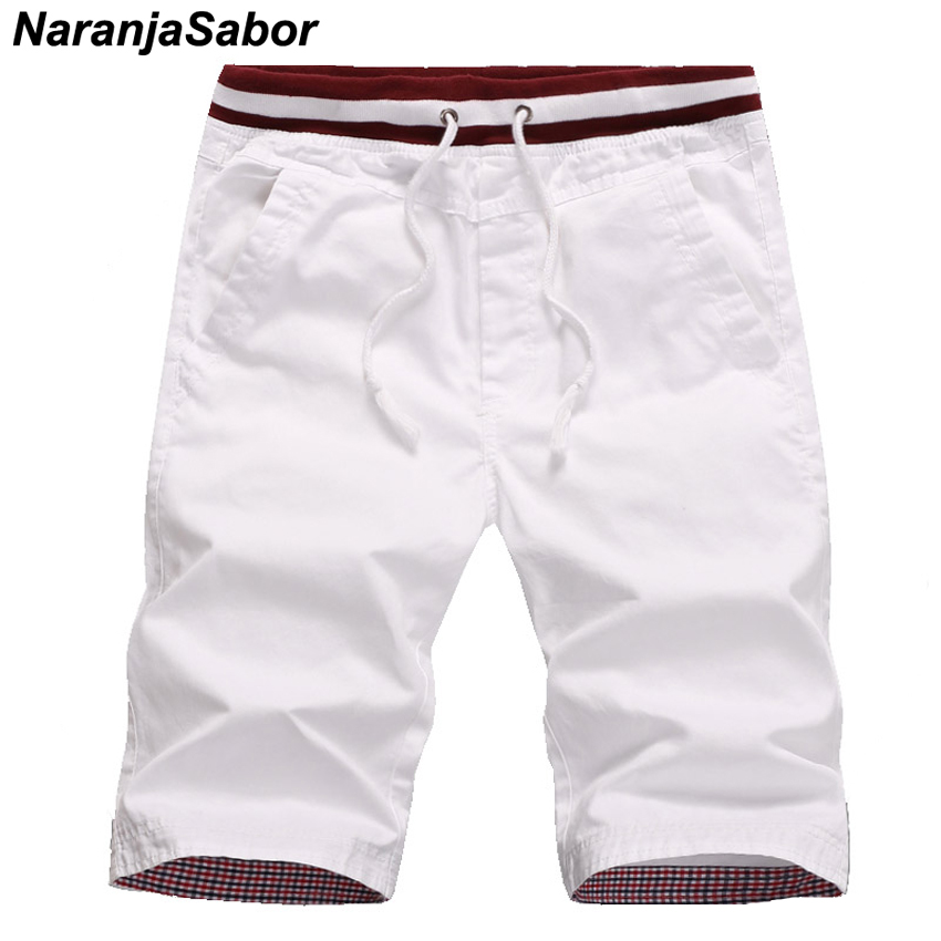 NaranjaSabor Men's Summer Shorts New Homme Beach Slim Fit Shorts Male Drawstring Pocket Elastic Joggers Men Short Trousers 4XL