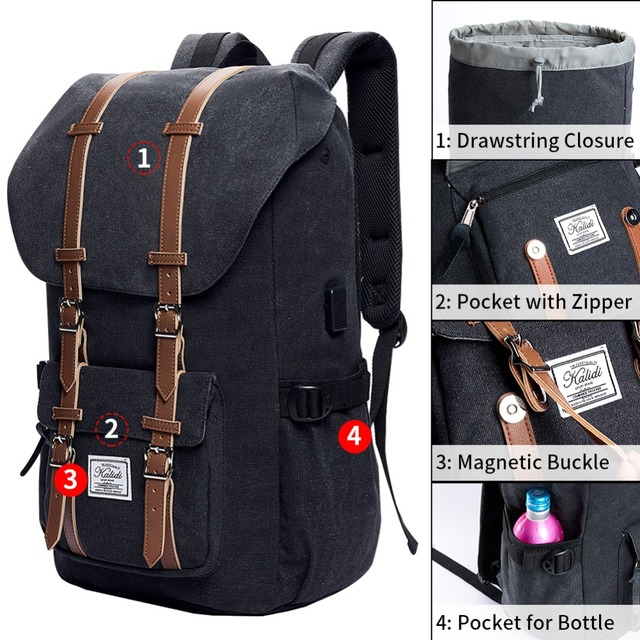 Fashionable Casual Leather Backpacks 2