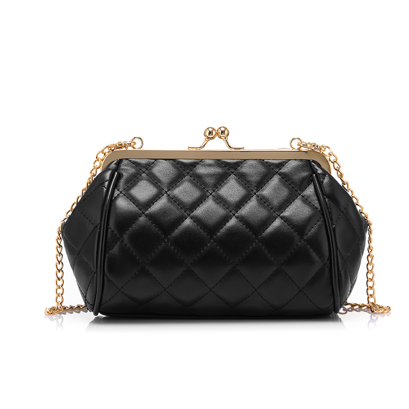 2017 Female Crossbody Chain Shoulder Bag Fashion Trend Frame Bags with Big Bow Quilted Bags for Women Solid Color Bag