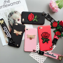 Silicone Cute Cartoon flower Rose strap cover case for huawei Honor 10 lite honor 9 8 6A 7X 8X 8C Play P30 Pro P20 Lite coque(China)