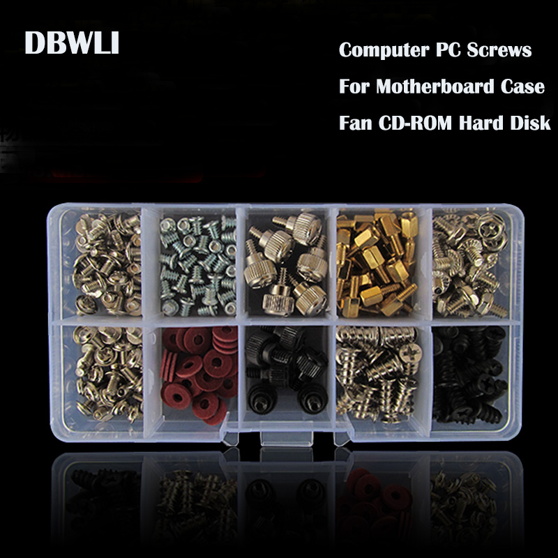 228Pcs DIY Screw Assortment Kit Computer PC Screws Set With case For Motherboard Case Fan CD-ROM Hard Disk 210 sheets deli stationery thick layer deli 0383 heavy duty manual jumbo stapler large thickening effortless heavy duty stapler
