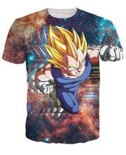 Vegeta T-Shirt character from anime series Dragon Ball Z high-quality 3d galaxy print summer fashion t shirt women men
