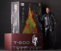 De Terminator Action Figure 1/6 schaal painted figuur Dubbele Guns Battle Beschadigd Ver. T800 Terminator Pop PVC ACGN figuur Anime