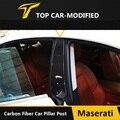 Free Shipping High quality Carbon Fiber Car B Pillar Trims for Maserati Quattroporte Ghibli 2014-2015