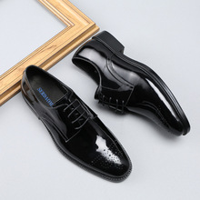 QYFCIOUFU Patent Leather Men Oxford Shoes Luxury Brand Men's Formal Shoes Genuine Leather Mens Dress Shoes For Business Office