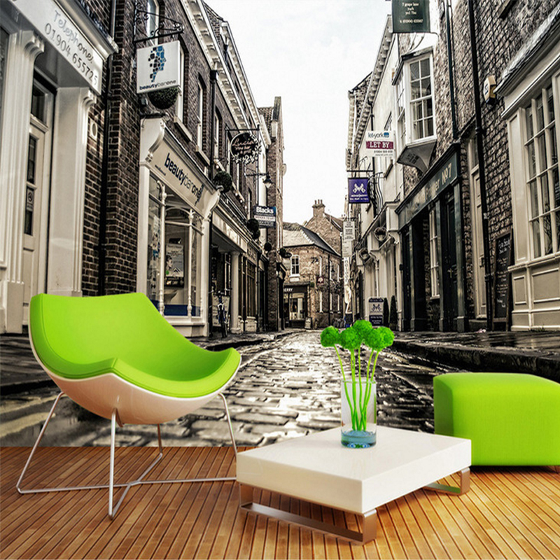 Custom photo 3d wallpaper Non-woven mural European city street home decoration painting 3D stereo wall murals for living room 3d photo wallpaper romantic bedroom 3d wall murals for living room european style town street wall murals wallpaper for walls 3d