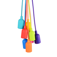 JEMMY HO Modern Colorful Silicone Pendant Light with E27 Lamp Holder & Vintage Antique Aluminum Pendant Lamps for Decoration