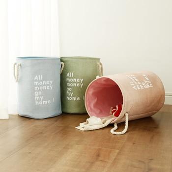 Laundry Toys Storage Box Basket Stand Super Large Bag Cotton Washing Dirty Clothes Picnic Big Organizer Bin Handle 4
