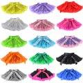 Fofo meninas 1-18 Anos Cores saias tutu menina Pettiskirt Chiffon Sólida Saia Dança Natal Tule Anágua Underskirt