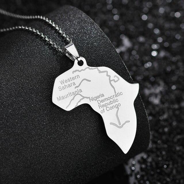 Фото memolissa кулон карта африки ожерелье для женщин и мужчин из цена
