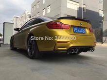 Shchcg для BMW F80 M3 F82 M4 купе F83 M4 Кабриолет 2012-2017 углеродного волокна задний бампер для губ багажника задний спойлер 3 шт.
